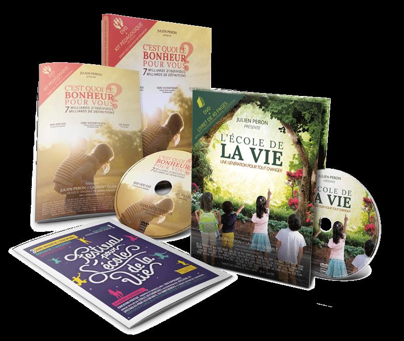 Profitez du pack 2 DVD: Le film « C'est quoi le bonheur pour vous? » et « L'école de la vie, une génération pour tout changer »