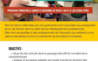 Formation – Créer une école alternative sur le modèle des lab schools